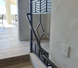Stainless Steel Balustrade in Black Patina Finish