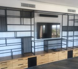Stainless Steel Wall Unit in Black Patina Finish