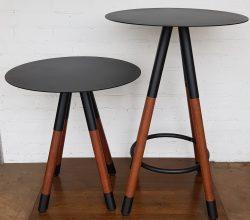 Steel and Kwila Legs with Steel Top – Powder Coated